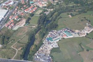 Vista aérea del río Besaya
