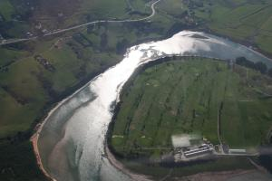 Vista aérea del río Pas