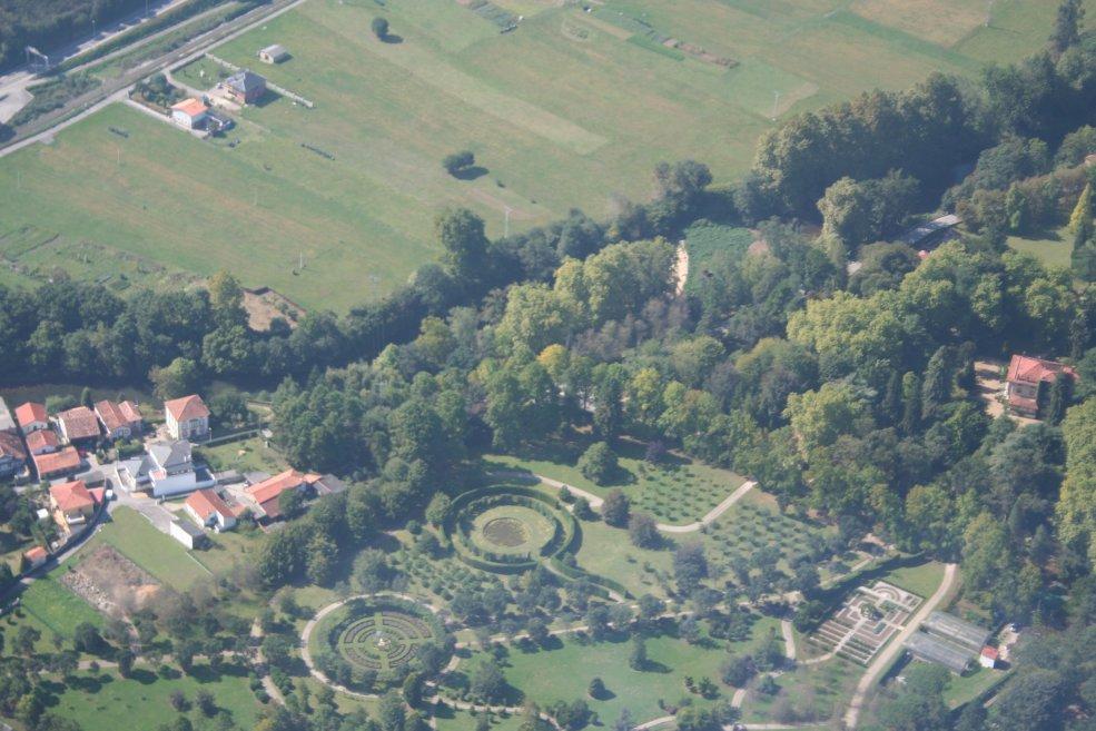 Vista aérea del río Saja