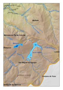 Situación del embalse de Alsa-Mediajo (Cantabria)