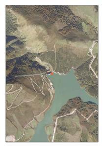 Vista aérea el embalse de Alsa-Mediajo