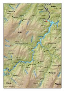 Situación del embalse de Arbón (Asturias)
