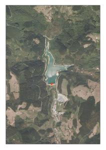 Vista aérea del embalse de Arriaran (Gipuzkoa)