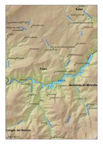 Localización del embalse de La Barca (Asturias)