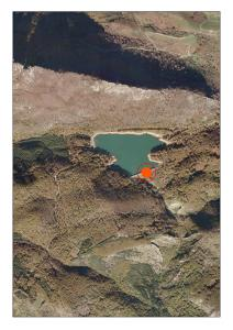 Vista aérea del embalse de Lareo (Gipuzkoa)