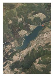 Vista aérea del embalse de Ordunte (Burgos)