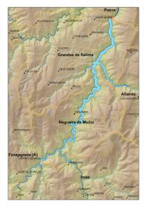 Situación del embalse de Salime (Asturias/Lugo)