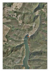 Vista áerea del embalse de Salime (Asturias/Lugo)