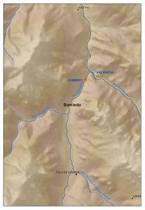 Situación del embalse de Somiedo (Asturias)