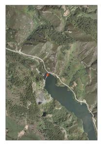 Vista aérea del embalse de Tanes (Asturias)